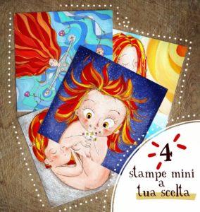 Set cartoline a tua scelta. Mini stampe illustrazioni.