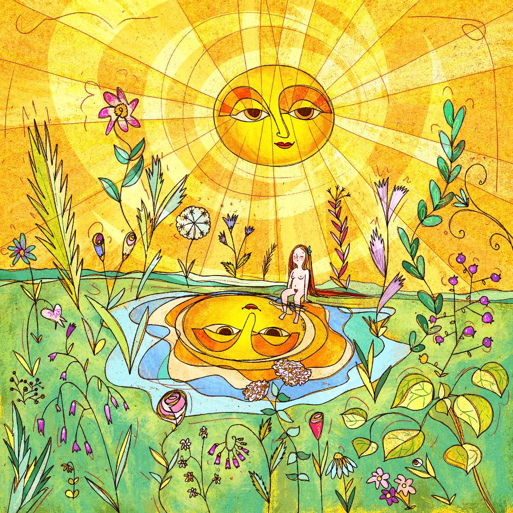 Sole che con i suoi raggi scalda le giornate promaverili facendo fiorire la natura.