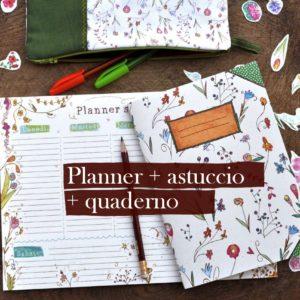 Planner + quaderno + astuccio