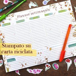 Planner settimanale carta riciclata