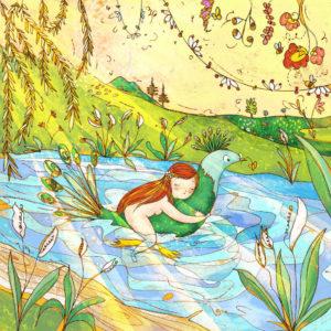 Stampa Illustrazione La mia fantasia del picchio