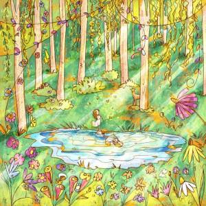 illustrazione Bosco Incantato stampa da collezione